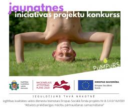 Aicina pieteikties 4600 eiro finansējumam, projekta PuMPuRS jaunatnes iniciatīvu projektu īstenošanai