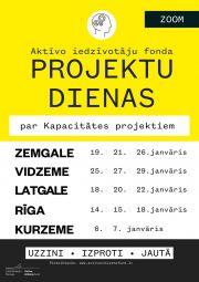 Aktīvo iedzīvotāju fonda projektu dienās Zemgalē!