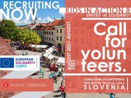Brīvprātīgā darba iespējas Slovēnijā!