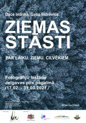 Jelgavas pils pagalmā skatāma izstāde ''Ziemas stāsti''