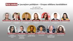 Nāc 24. aprīlī Ātrajos randiņos aci pret aci izjautāt jaunos politiķus – Eiropas vēlēšanu kandidātus!