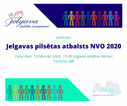 Seminārs ''Jelgavas pilsētas atbslsts NVO 2020''