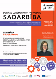 Seminārs ''Sociālo uzņēmumu un pašvaldību sadarbība''