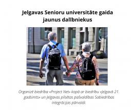 Senioru universitāte uzņem jaunus dalībniekus