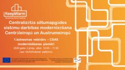 Tiešsaistes semināri par centralizētās siltumapgādes sistēmu modernizācijas izaicinājumiem un iespējām